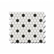 MOZAIKA HEXAGON B&W MAT 26X30
