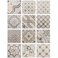 FABRESA ANTIC HUESO DECOR MIX 15X15 BRILLO